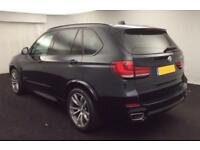 2015 BLACK BMW X5 3.0 XDRIVE40D M SPORT DIESEL AUTO 4X4 CAR FINANCE FR £109 PW