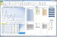 Microsoft Excel or Access Interactive Dashboards