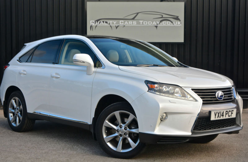 Wonderful 2014 Lexus RX 450h 3.5 V6 Hybrid Advance 4WD Pan Roof *Pearl White + Ivory