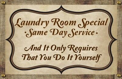 (Laundry Room Special) WALL DECOR, DISTRESSED,PRIMITIVE,HARD WOOD, SIGN, PLAQUE (Laundry Room Wall Decor)