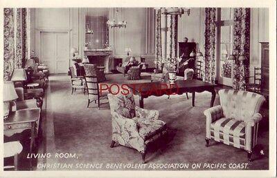 1949   Rppc Living Room  Christian Science Benevolent Assoc  On Pacific Coast