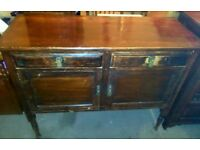 Antique solid wooden sideboard