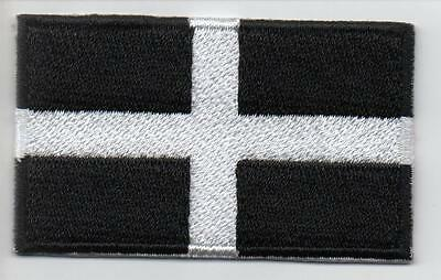 Embroidered CORNWALL ST PIRAN'S  Flag Iron on Sew on Patch Badge HIGH QUALITY