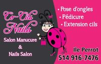 Pose d'ongles Extensions cils Ile Perrot Vaudreuil