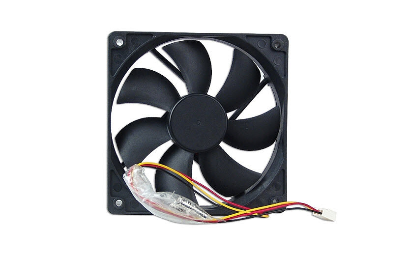 """FD122025 4.72/""""x4.72/"""" 120mm Computer PC Case Fan with 3-Pin//4-Pin Connector Black"""