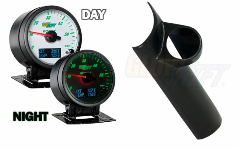 GlowShift 3in1 White Boost,Digital EGT &Temp Gauge &Pod Fits 94-97 Dodge Cummins