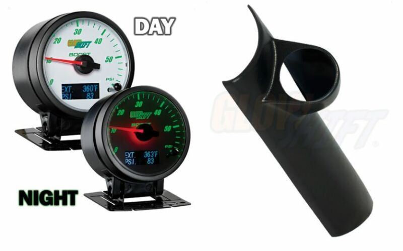 GlowShift 3n1 White Boost,Digital EGT&PressGauge&Pod For 94-97 Dodge Ram Cummins