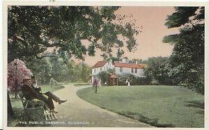 Buckinghamshire-Postcard-The-Public-Gardens-Burnham-1776