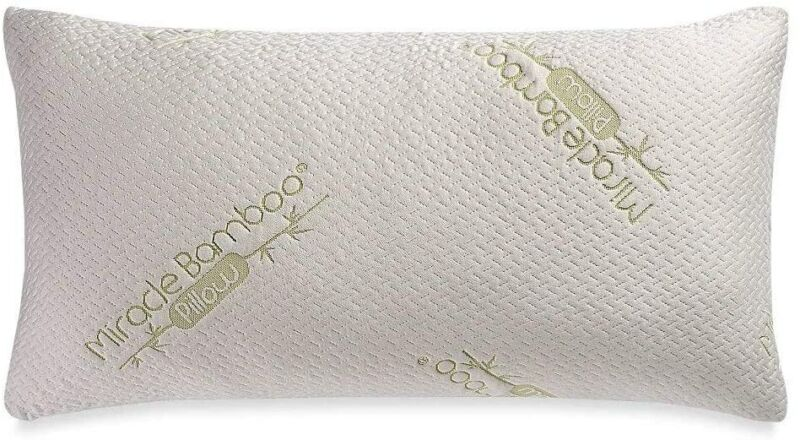 Miracle Bamboo Deluxe Queen Pillow with Viscose from Bamboo Cover