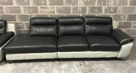 DFS Dice open end leather sofa