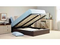DOUBLE AND KING SIZE LEATHER STORAGE BED WITH MATTRESS CHOICE!!!!!