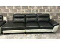 DFS Dice leather open end sofa