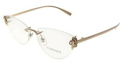 New Authentic VERSACE VE1254B 1429 Rose Gold/Demo Lens 54/15/140 Eyeglasses