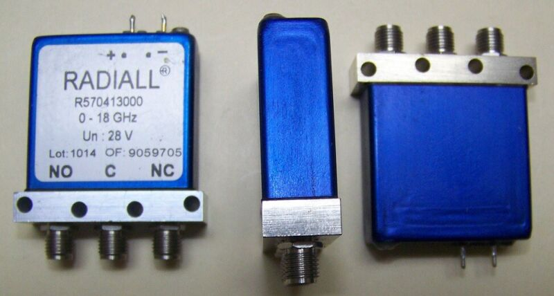 This is for one Radiall fail-safe SPDT SMA Relay tested DC-24.5GHz < .15dB loss!