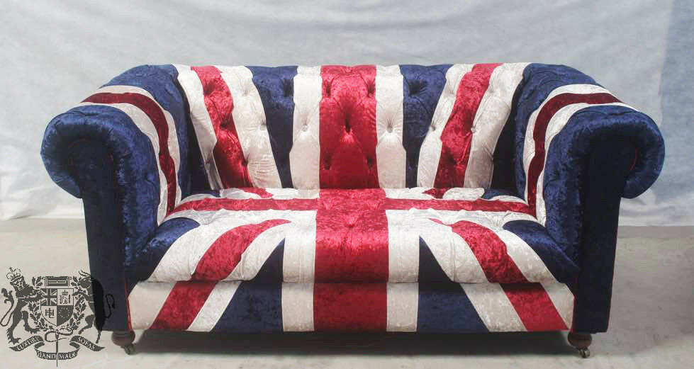 (Brand New) 2 Seat Union Jack British Flag Velvet Chesterfield Sofa | In  Clowne, Derbyshire | Gumtree