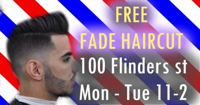 100 Free Mens Fade Haircut 100 Flinders Street Melbourne
