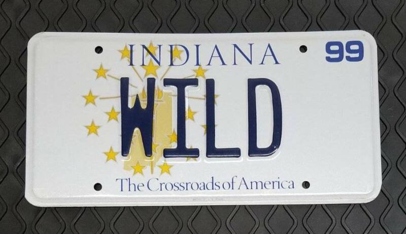 WILD - 1999 State of Indiana Issued Personalized Vanity License Plate