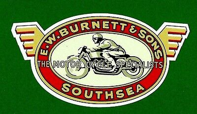 VINTAGE RETRO CAFE RACER UK Vinyl Decal Sticker MOTORCYCLE INDIAN ARIEL BSA POPE
