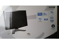 Black/Silver Acer P223W 22-inch Widescreen Crystalbrite TFT Monitor on sale
