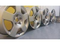 """Genuine Audi 16"""" 5x112 alloy wheels excellent conditon VW sest skoda reduced to clear!!"""