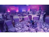 Event venue decorators, Chair cover hire from £0.65p, Backdrop hire from £60 only