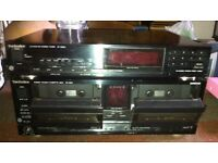 Vintage Technics tape and radio deck
