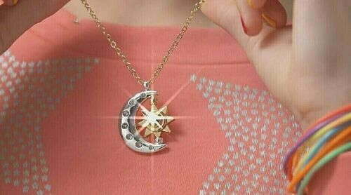 SOY LUNA Chain Necklace Pendant for Girls with Bag Moon and Sun