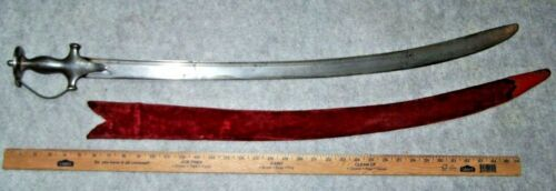 INDIAN TALWAR SWORD & SCABBARD, 1850 *NICE*