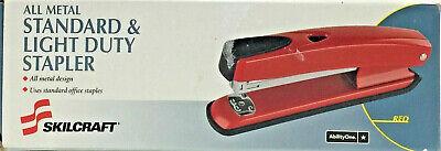 Abilityone Skilcraft 6443713 Metal Stapler 20-sheet Cap Red