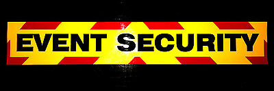 Event Security Fluorescent Magnetic Warning Sign