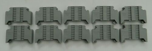 NEW Lot of 10 Eaton Cutler 35mm Din Rail End Stop Barrier Block XBAES35C / ES35C
