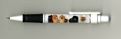 Pomeranian Dog Design Retractable Acrylic Ball Pen by paws2print