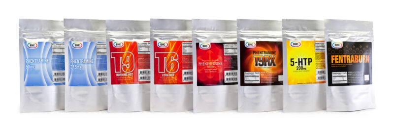 Legally labelled weight management food supplements