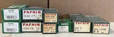 Lot Of 9 Fafnir Bearings All New In Box Various Sizes