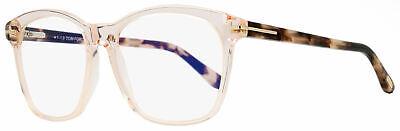 Tom Ford Blue Block Eyeglasses TF5481B 072 Transparent Rose 54mm (Tom Ford Glasses For Women)