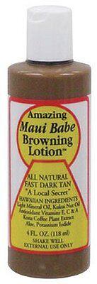 Hawaiian Maui Babe Browning Tanning Lotion 4Oz Travelsz Fast Dark Longlastin Tan