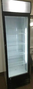 "NEW - Frigo 1 porte vitree / Glass door fridge NEUF 80"" HAUTEUR"