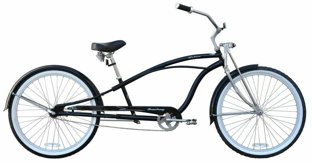 "New 26"" Deluxe Stretch Beach Cruiser Bike CHROME or BLACK"