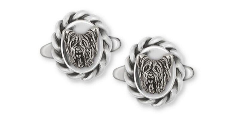 Skye Terrier Cufflinks Jewelry Sterling Silver Handmade Dog Cufflinks SKY1H-CL