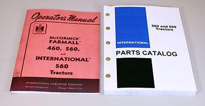 Set International Farmall 560 Tractor Owner Operator Parts Manuals Catalog Book