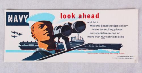 "Vintage US Navy Recruiting Ink Blotter, 9"" x 4"""
