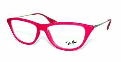 RAY BAN WOMEN CAT EYE MATTE FUCHSIA AUTHENTIC EYEGLASSES RB 7042 5471 52-14 (Cat Eye Ray Ban Eyeglasses)