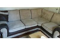 Brown corner settee
