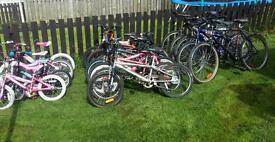 Joblot of bikes