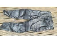 Men's motorcycle leather trousers