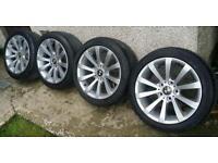 17 inch 5x120 genuine BMW alloys wheels