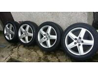 17 inch 5x112 genuine Audi alloys wheels