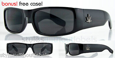 BLACK Locs Wrap Style Super Dark Car Motorcycle Sunglasses X Sports OG Eazy E