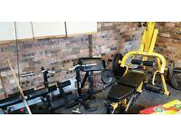 Powertech work bench leverage gym system