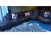 Large Corner Chase Sofa Brown Leather